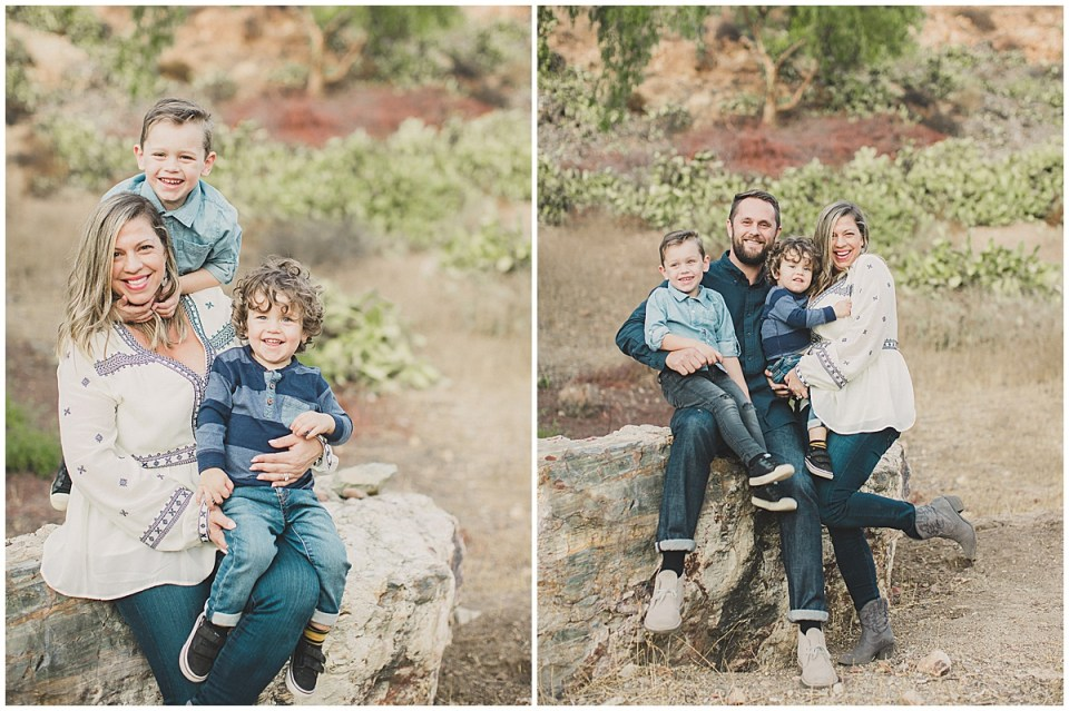 Keeping the kids laughing during Family Photos.