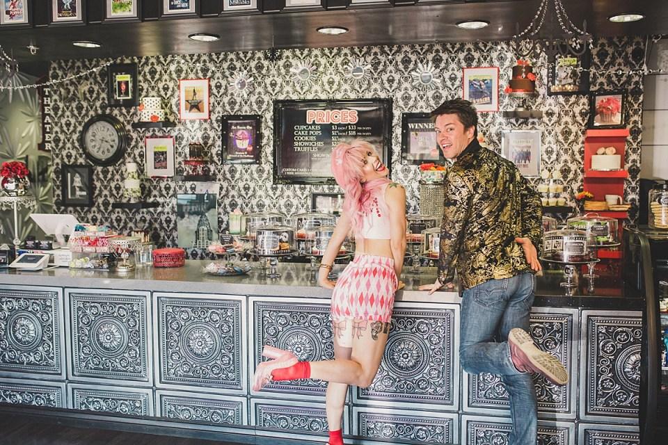 Annalee Belle & JD Scott, ready for some Showboy Bakeshop tasty treats.