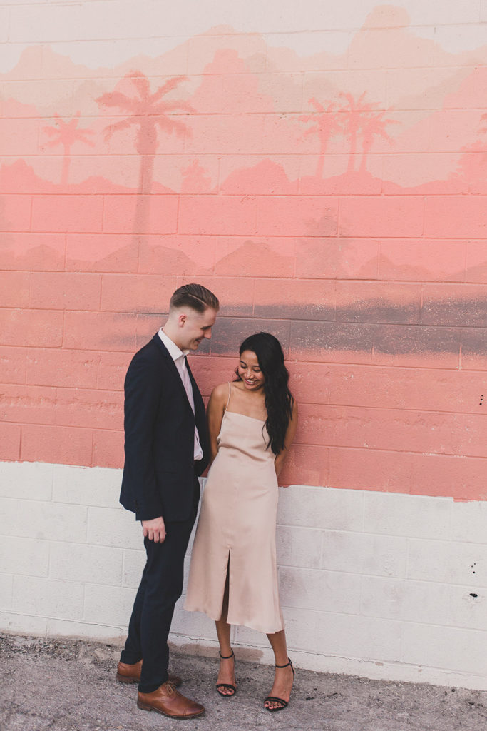 downtown Las Vegas mural engagement portraits by Taylor Made Photography