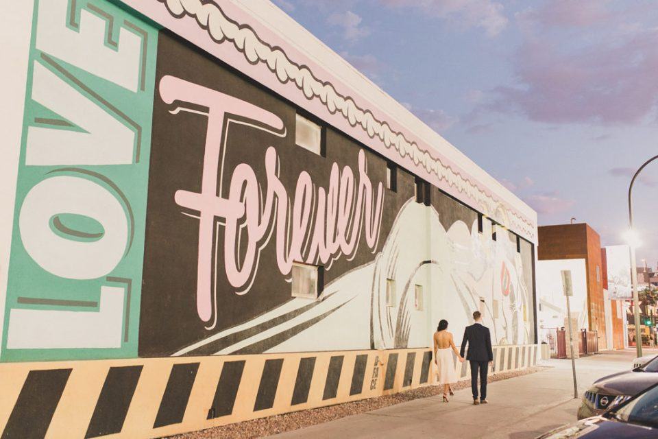 engagement session downtown Las Vegas by Taylor Made Photography
