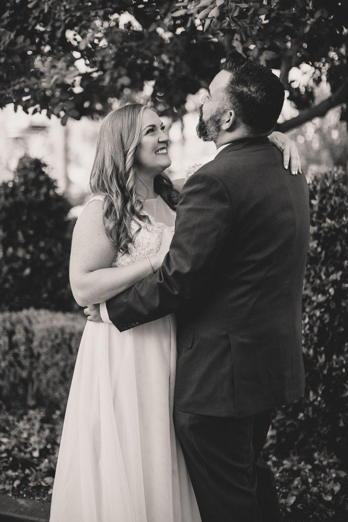 Nevada wedding photographer Taylor Made Photography captures happy couple on wedding day
