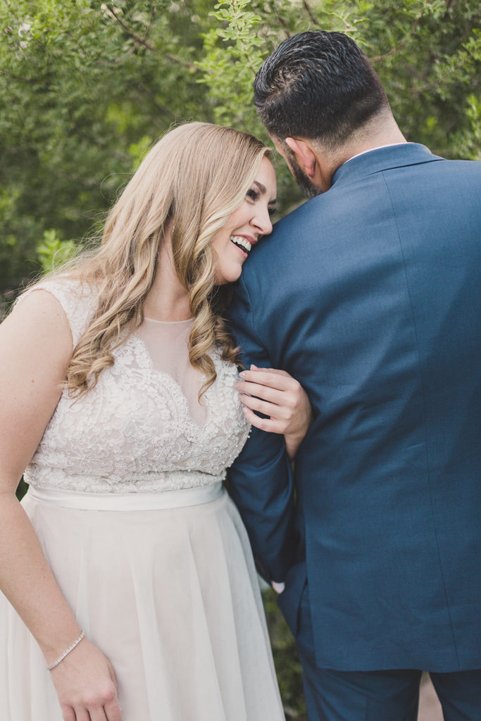 intimate wedding day at MGM Grand with Taylor Made Photography