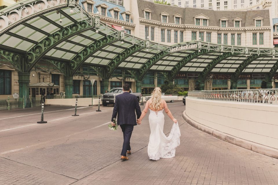 wedding portraits on the Las Vegas strip by Taylor Made Photography