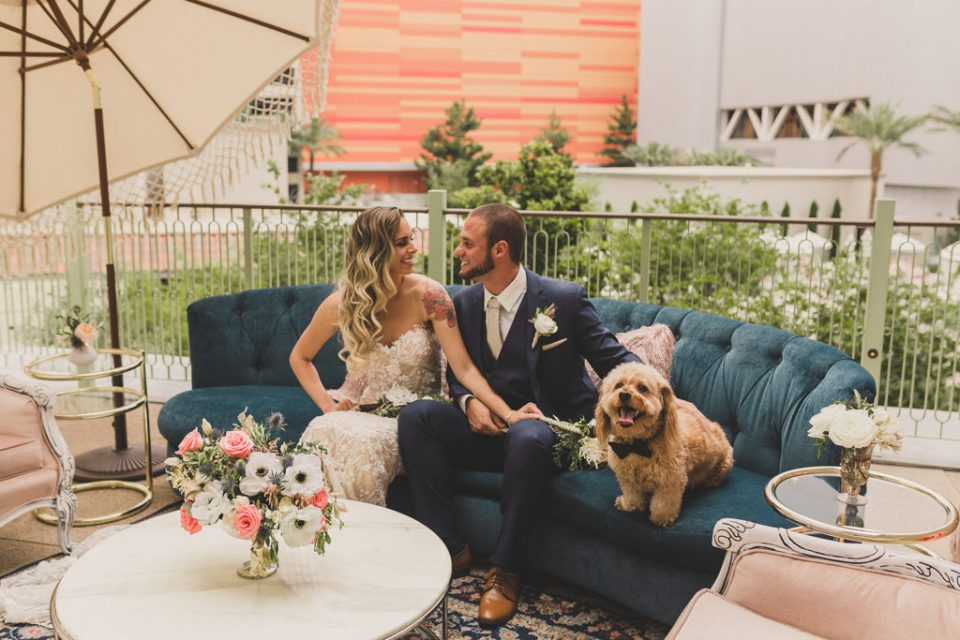 wedding reception details at Park MGM in Las Vegas by Taylor Made Photography
