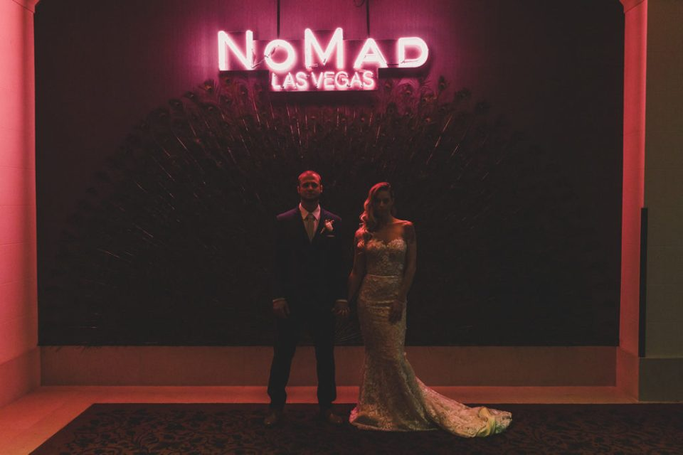 NoMad wedding portraits with neon light photographed by Taylor Made Photography
