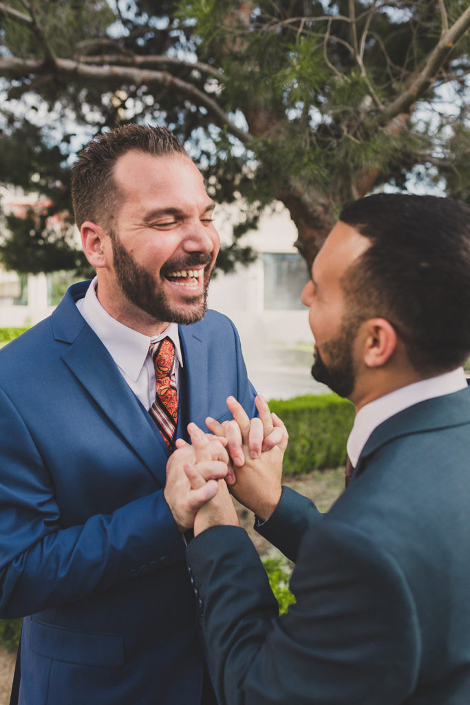 grooms elope in Las Vegas photographed by Taylor Made Photography