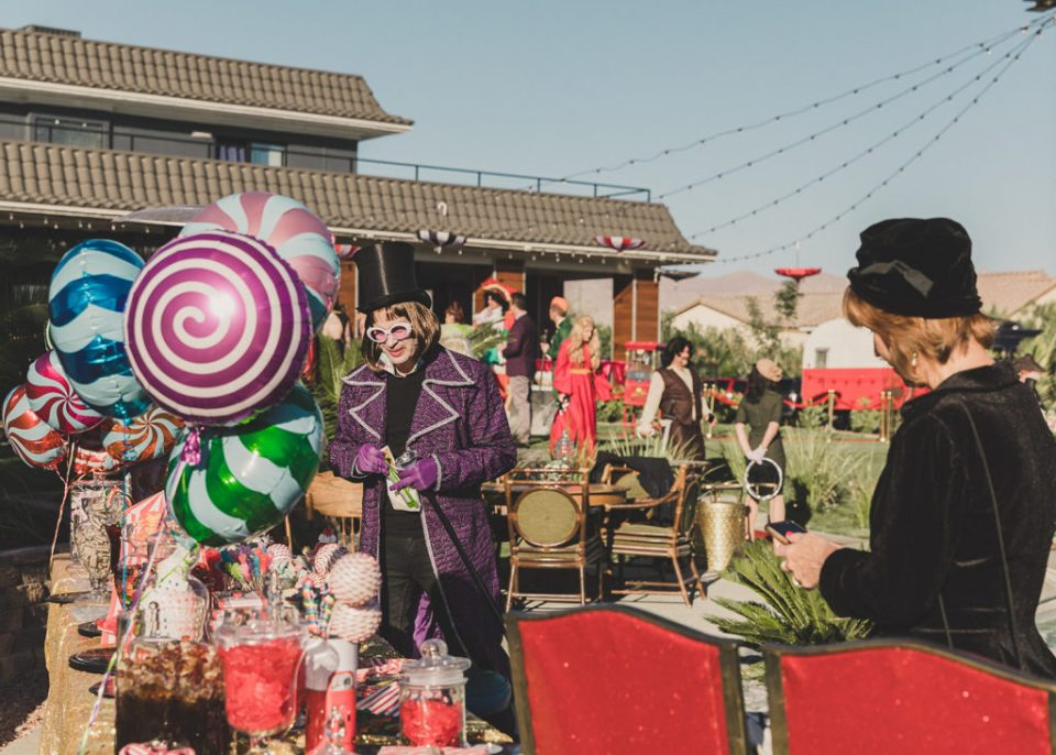 Halloween wedding with candy station photographed by Taylor Made Photography