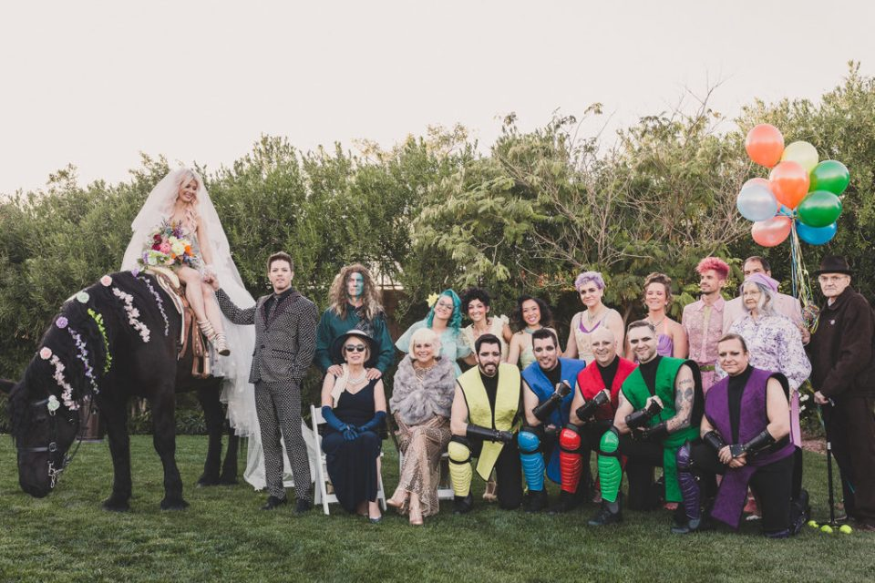 Taylor Made Photography captures bridal party for Halloween Lotus House wedding