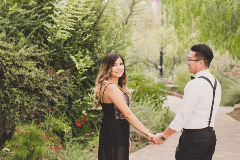 classy Las Vegas engagement session with Taylor Made Photography