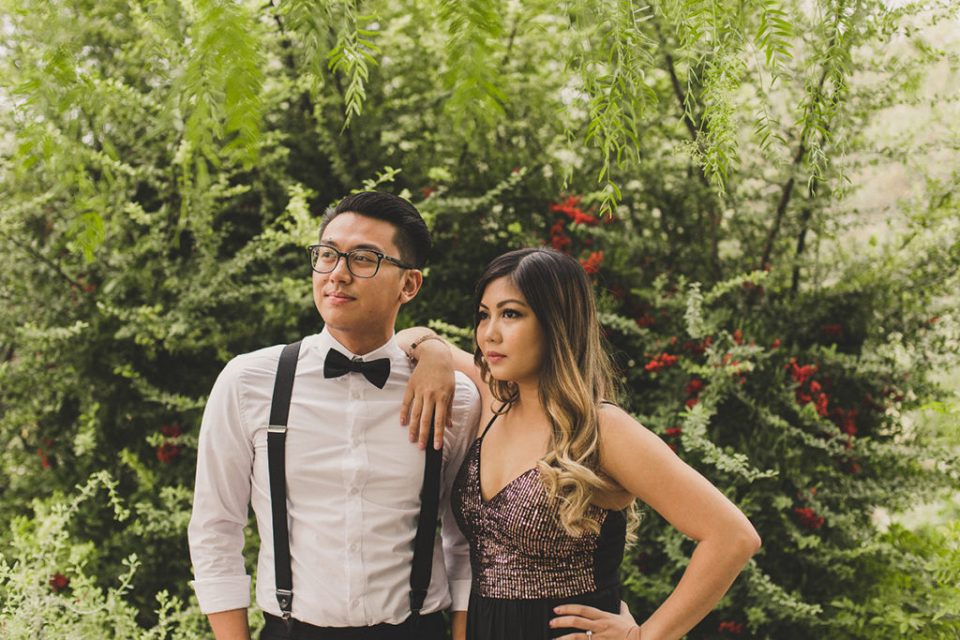 couple poses for Las Vegas wedding photographer Taylor Made Photography