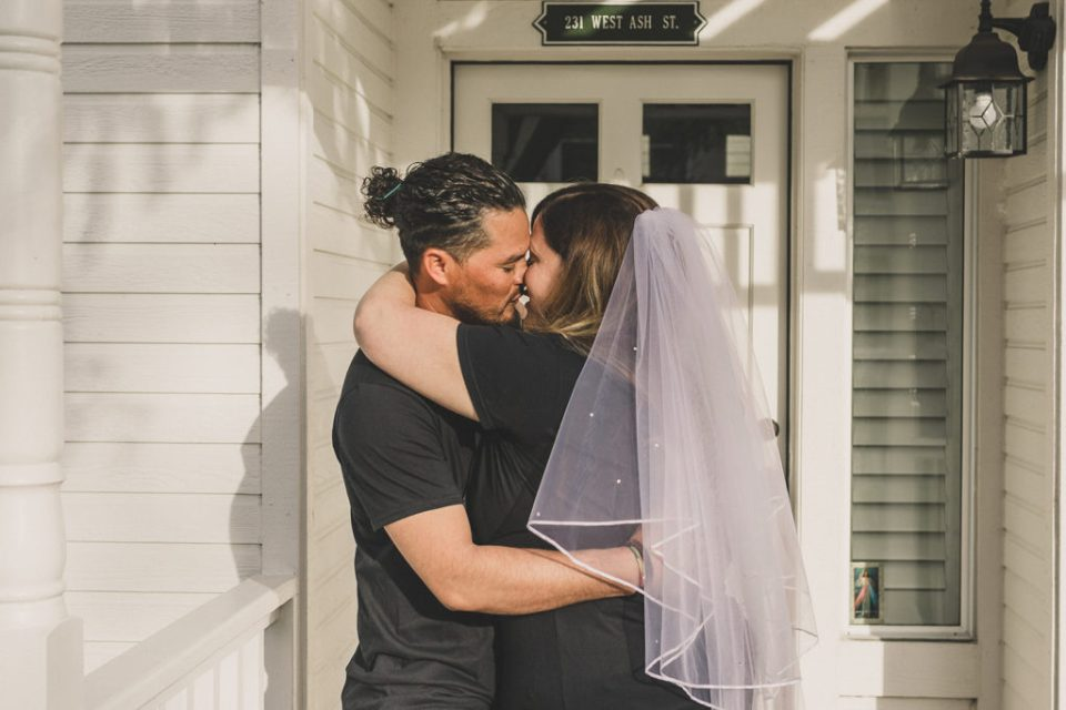 emotional intimate wedding day at home with Taylor Made Photography