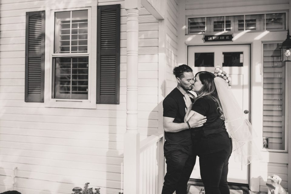 romantic intimate wedding at home in Brea, CA with Taylor Made Photography