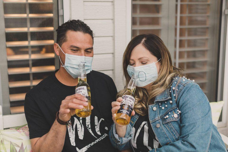 funny Coronavirus wedding portraits by Taylor Made Photography