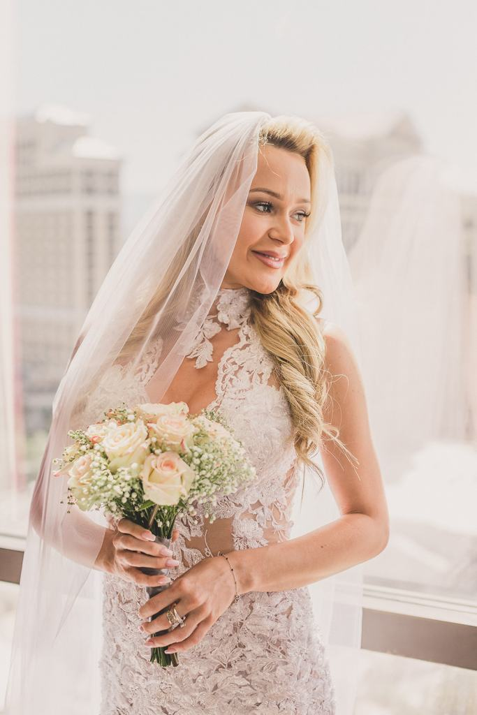 Flamingo Hotel elopement prep photographed by Taylor Made Photography