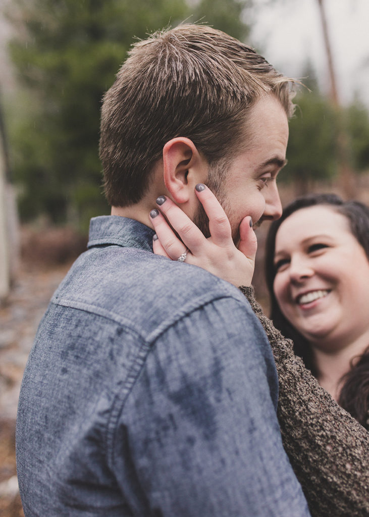 Mt. Charleston engagement session photographed by Taylor Made Photography