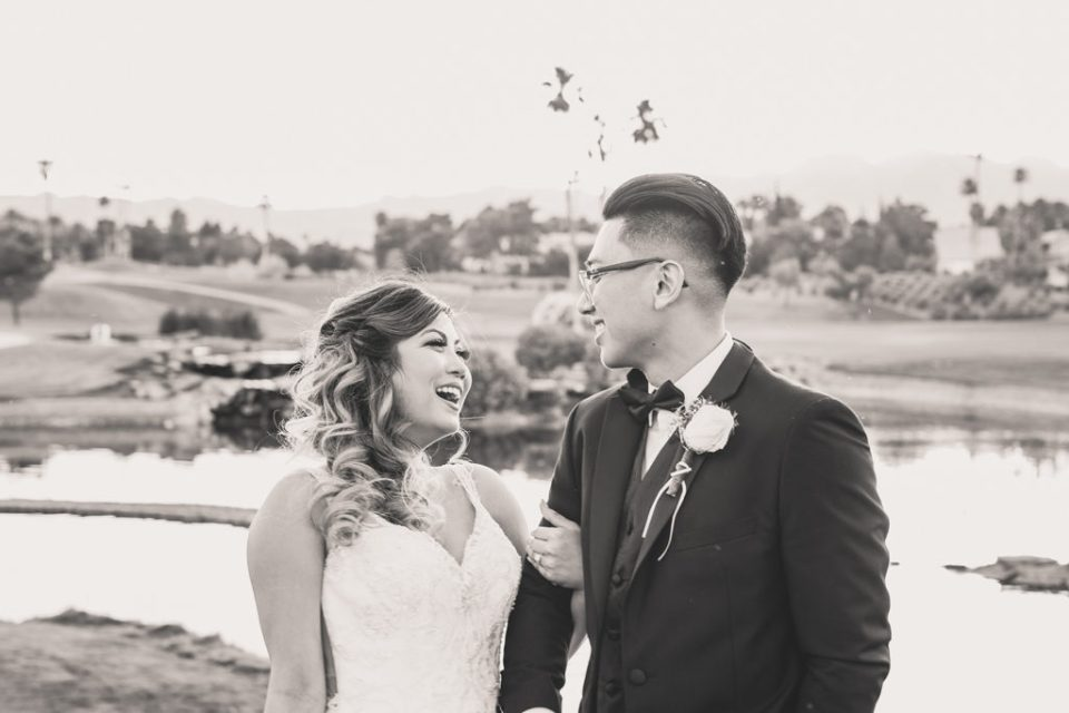 Las Vegas wedding portraits on golf course with Taylor Made Photography