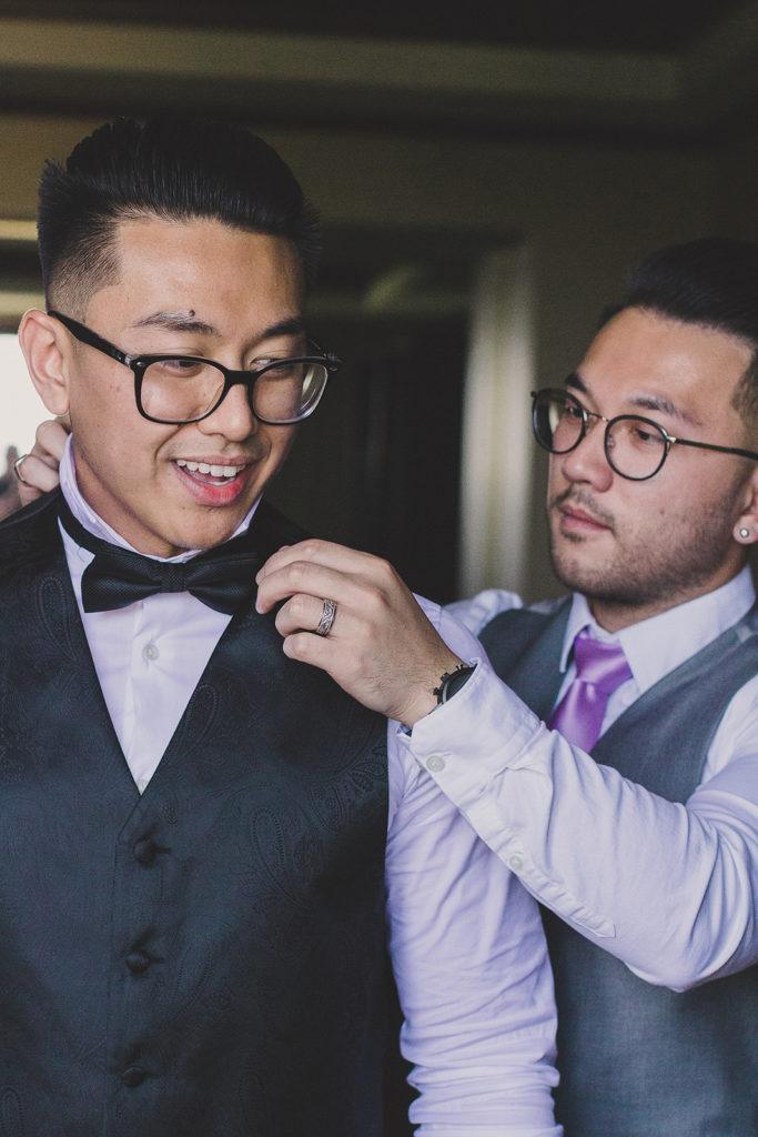 Taylor Made Photography captures groom preparing for Las Vegas wedding