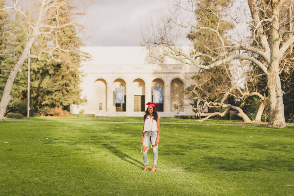 Pomona College senior portraits by Taylor Made Photography