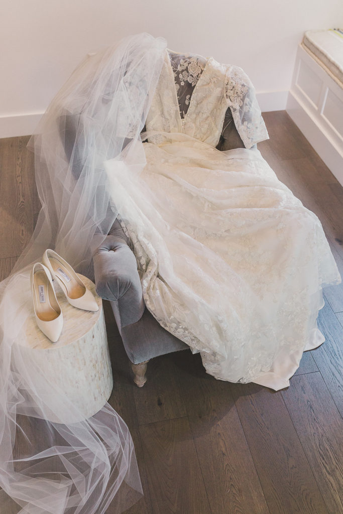 bride's dress and shoes for Las Vegas wedding photographed by Taylor Made Photography