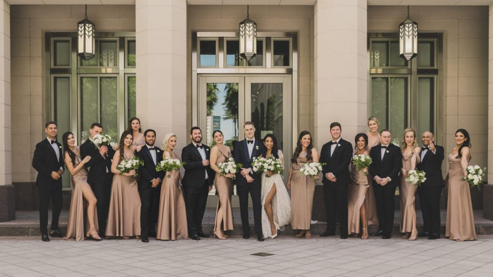 Smith Center for Performing Arts wedding party photographed b yTaylor Made Photography