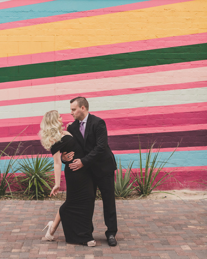 family portraits by Downtown Arts District murals with Taylor Made Photography