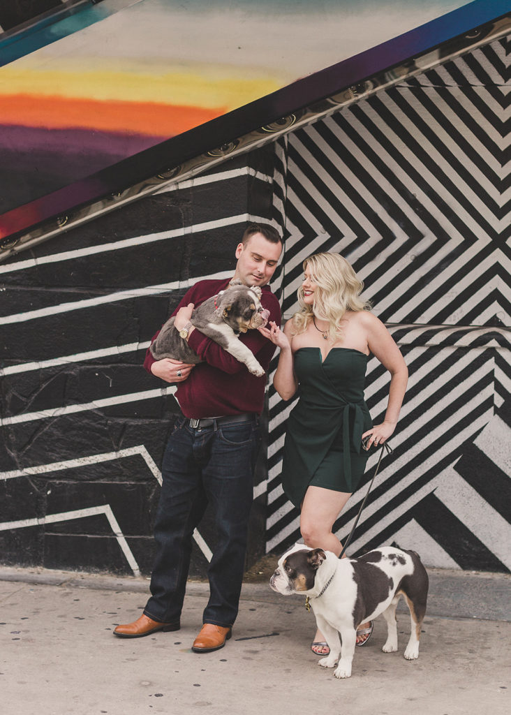 downtown Arts District murals family session photographed by Taylor Made Photography