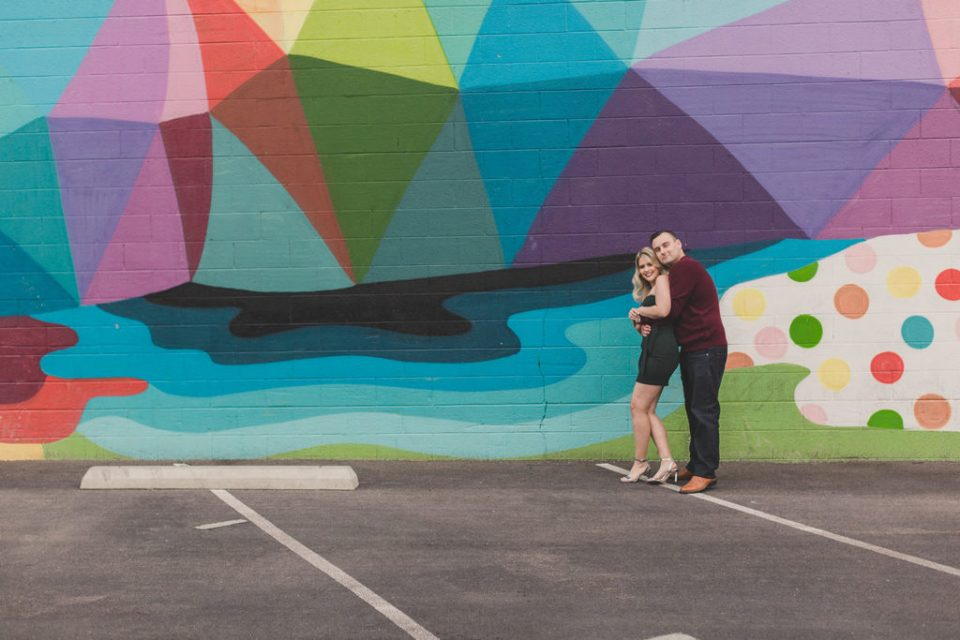 Downtown Arts district family portraits by murals by Taylor Made Photography