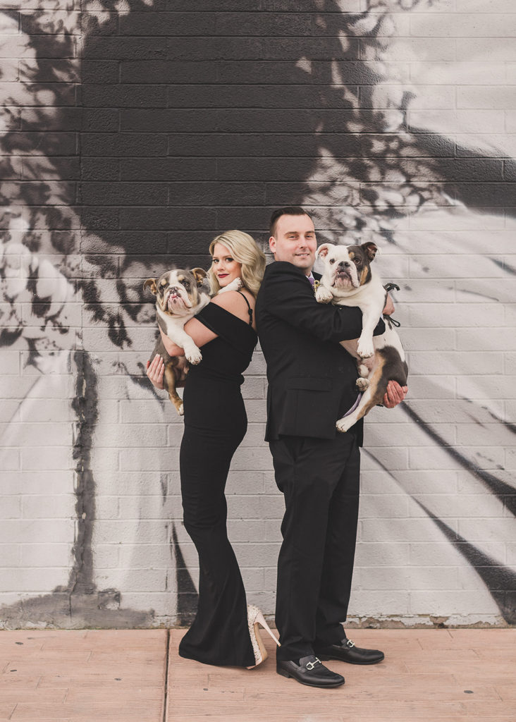 playful Las Vegas family photos with dogs by Taylor Made Photography