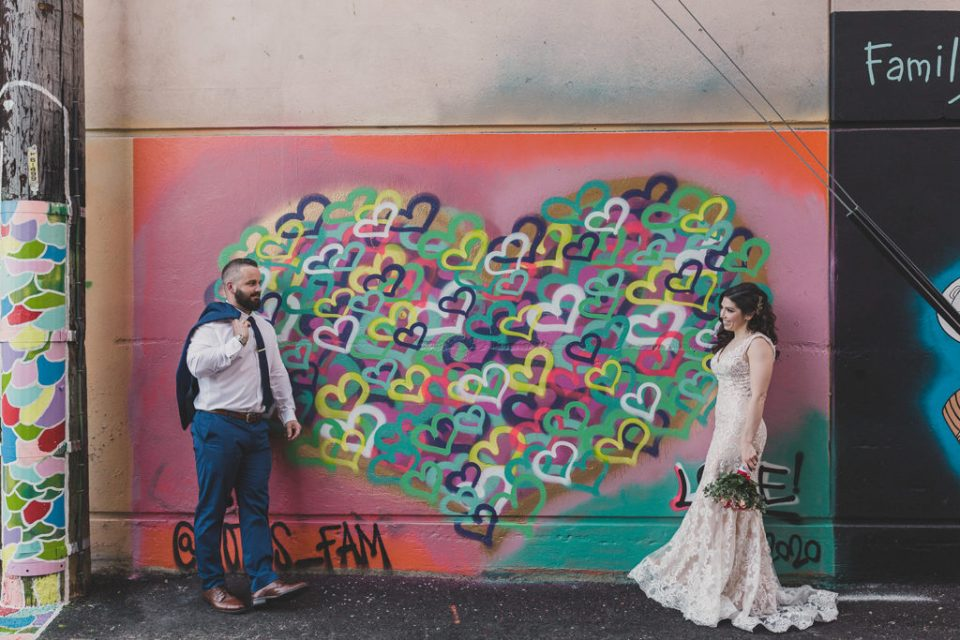 downtown Las Vegas elopement wedding portraits by photographed by Taylor Made Photography