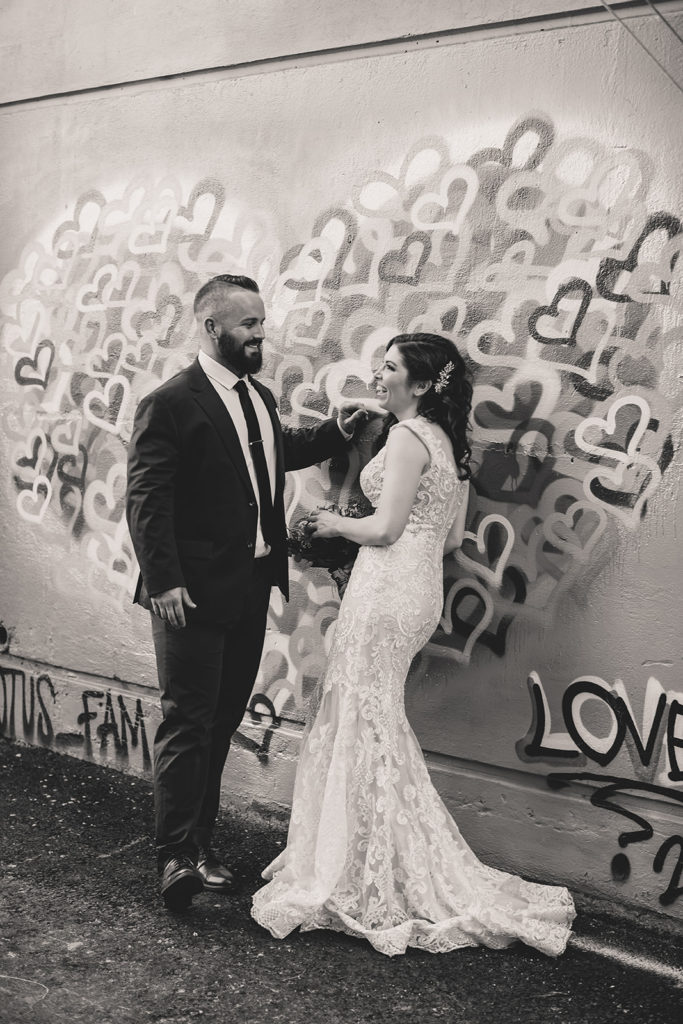 Fremont Street wedding photos photographed by Taylor Made Photography