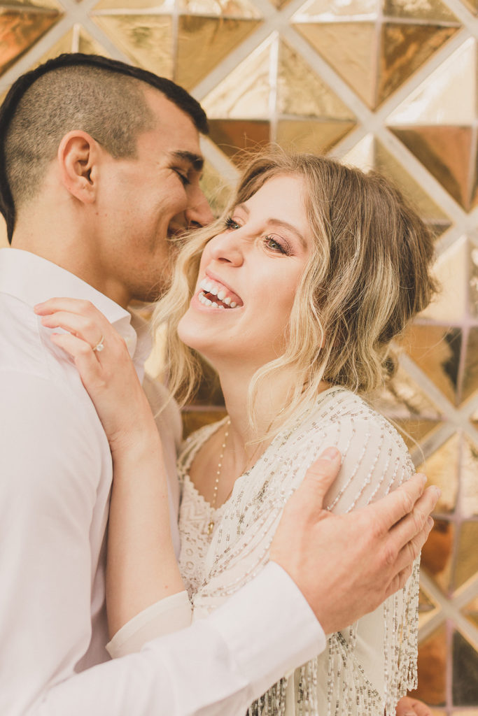 Taylor Made Photography photographs Fremont Street engagement portraits