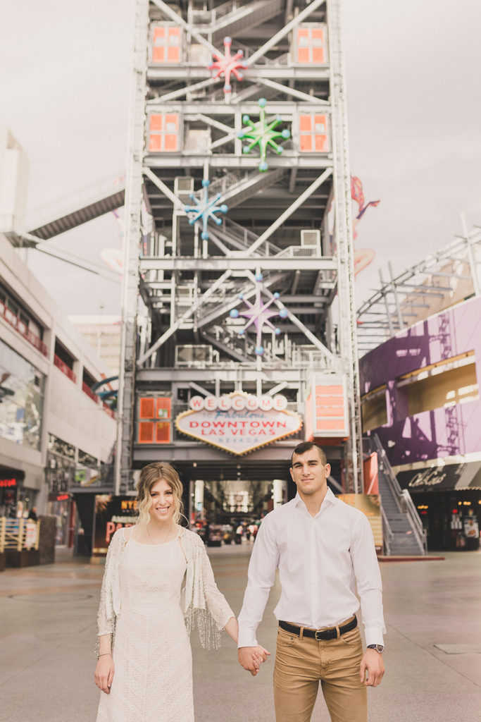 downtown Las Vegas engagement session photographed by Taylor Made Photography