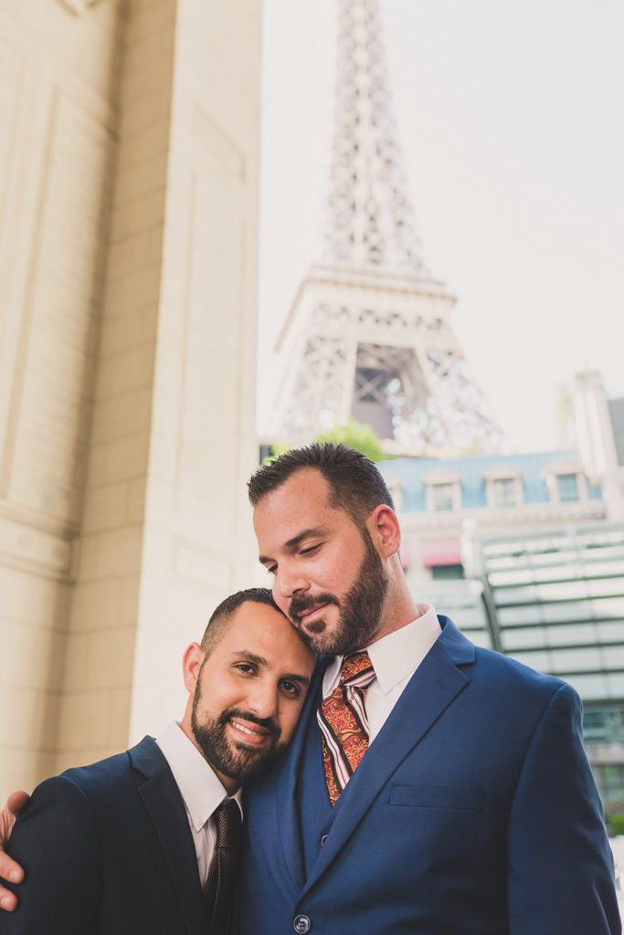 Paris Hotel & Casino elopement portraits with Taylor Made Photography