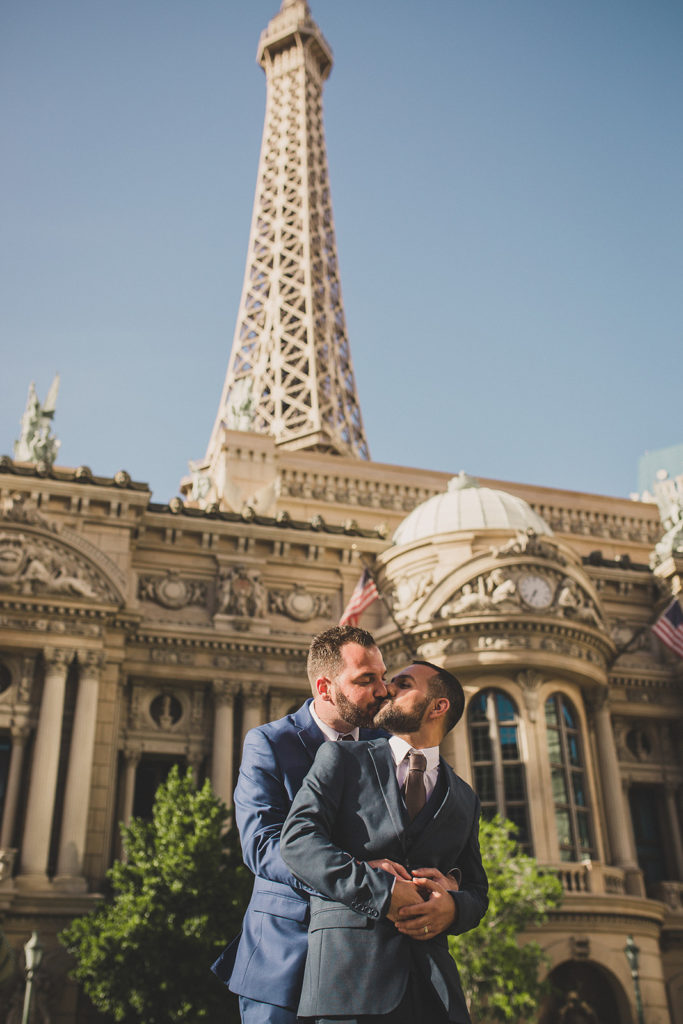 Paris Hotel & Casino elopement portraits by Taylor Made Photography