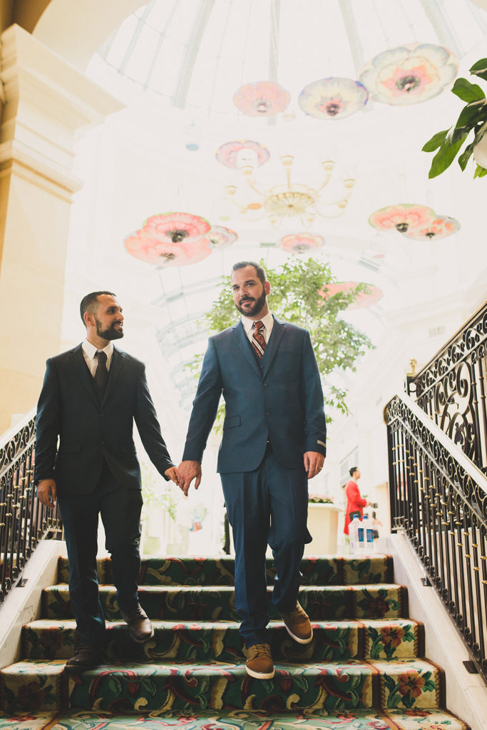Las Vegas hotel elopement portraits by Taylor Made Photography