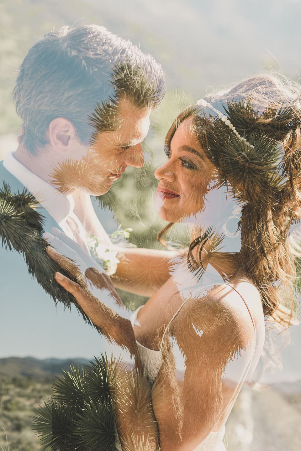 double exposure wedding portraits during Las Vegas styled shoot photographed by Taylor Made Photography