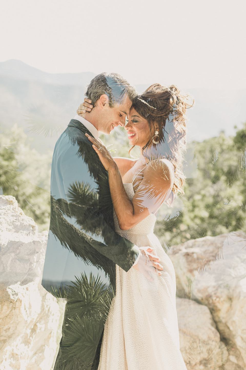 double exposure wedding portraits in Las Vegas photographed by Taylor Made Photography