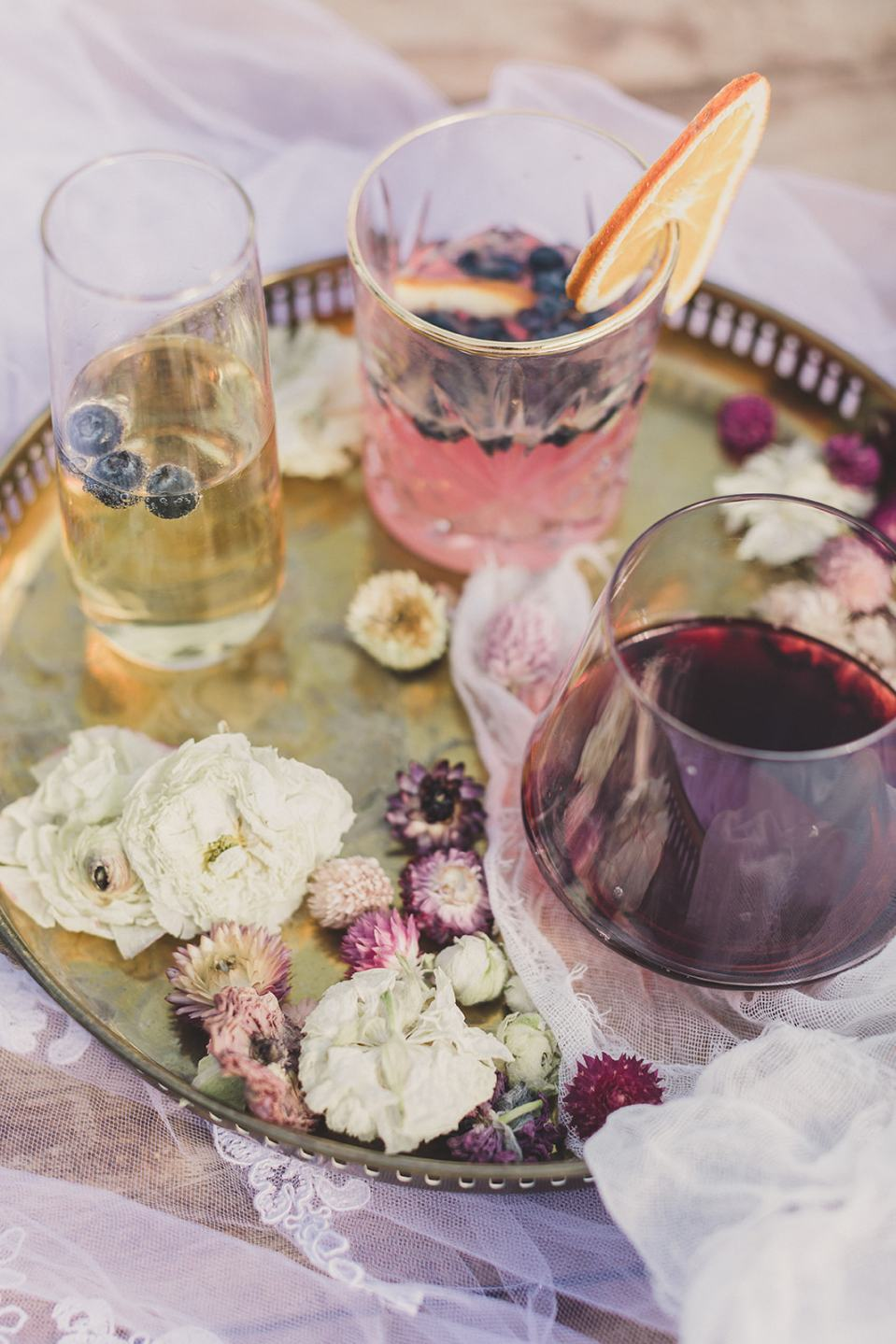 refreshments for elopement in Las Vegas photographed by Taylor Made Photography