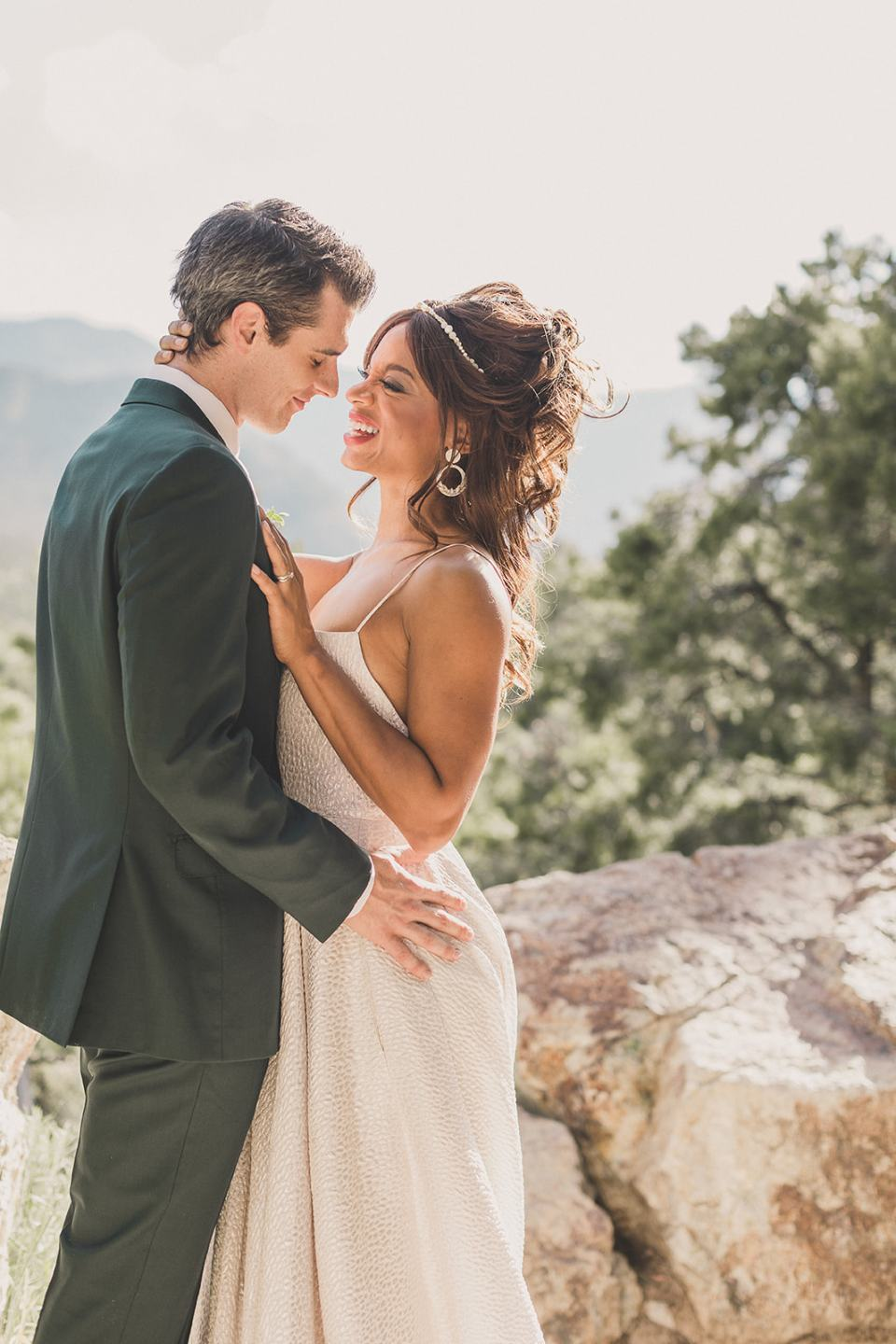 wedding portraits at the Resort at Mt Charleston photographed by Taylor Made Photography