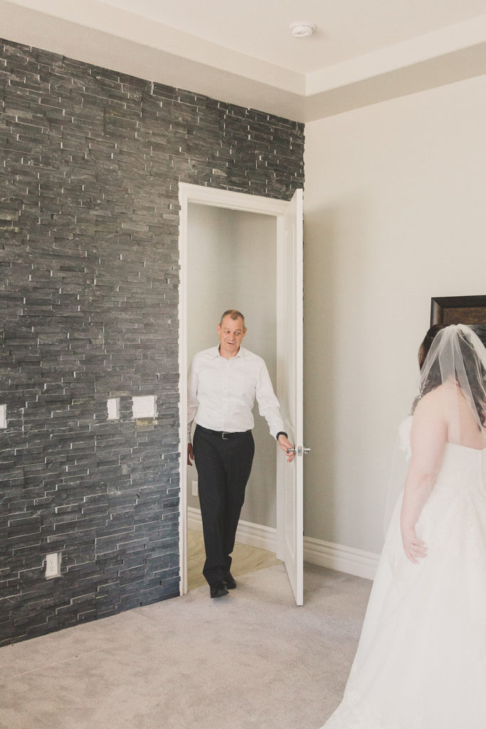 dad's first look with bride photographed by Taylor Made Photography