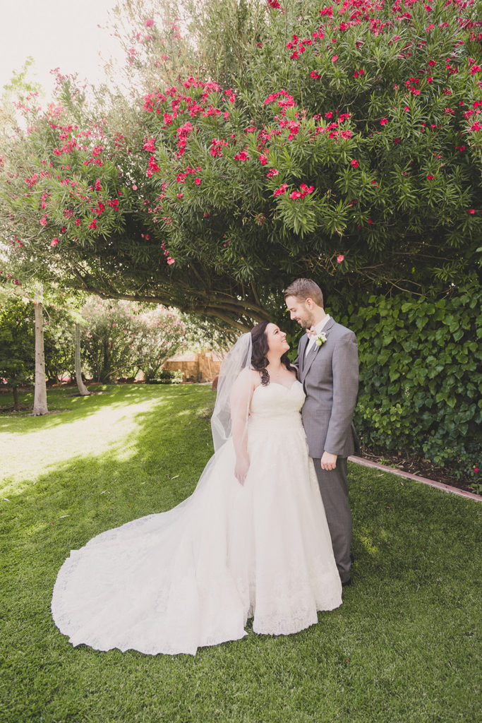 first look in the gardens at The Grove by Taylor Made Photography