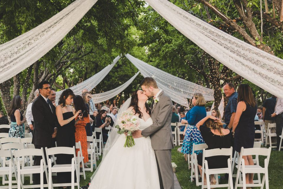 The Grove wedding ceremony outside photographed by Taylor Made Photography