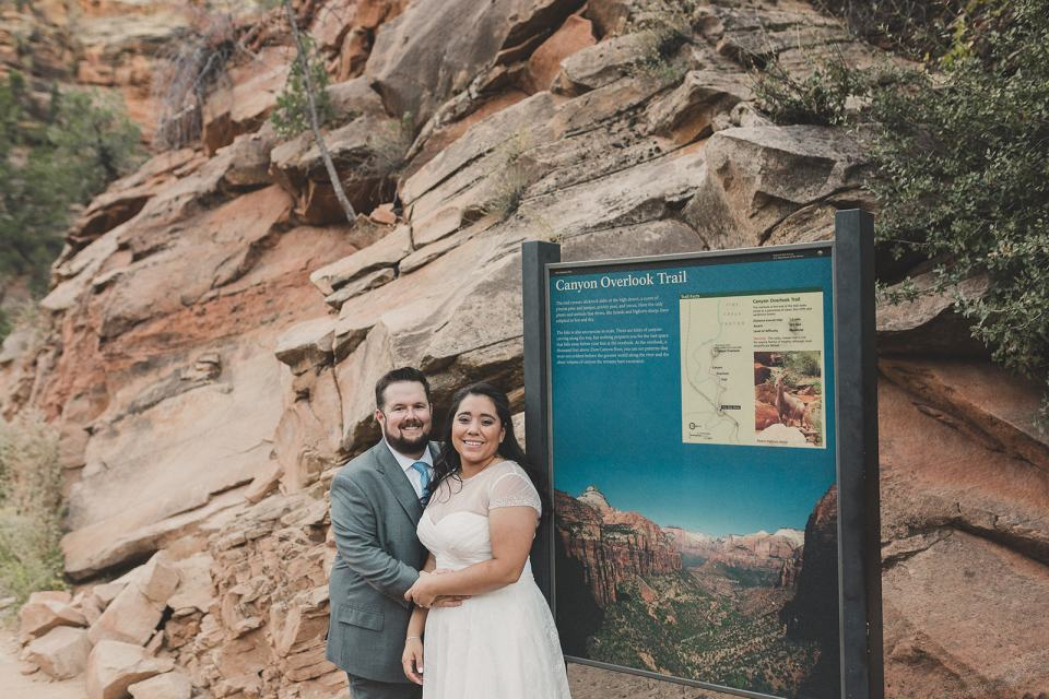 Zion National Park intimate wedding day photographed by Taylor Made Photography