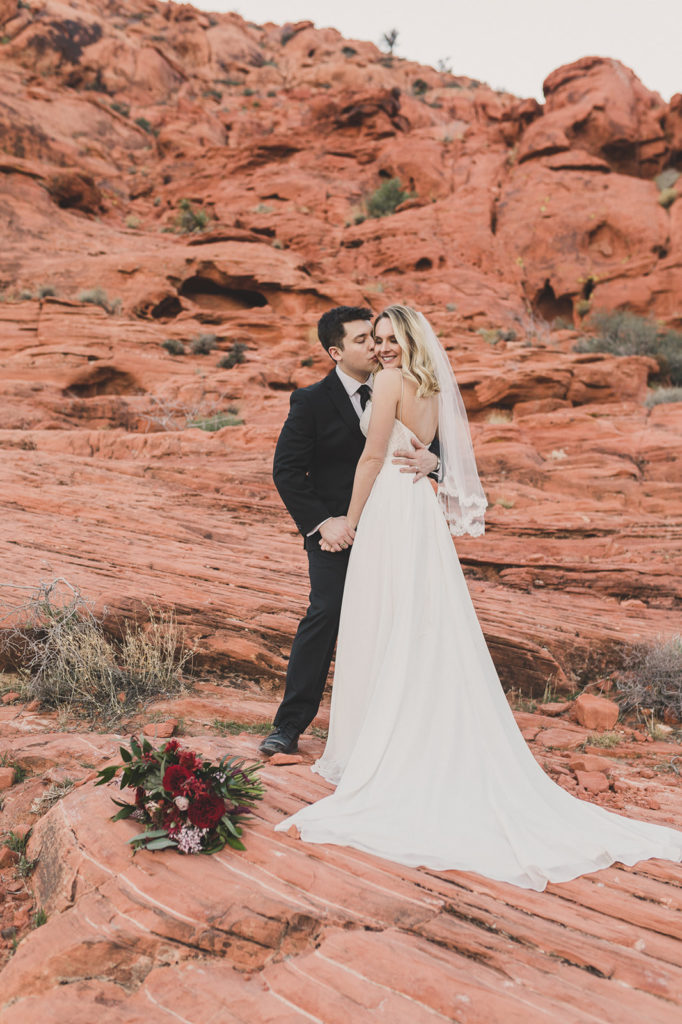 Taylor Made Photography captures Calico Basin wedding portraits in Las Vegas