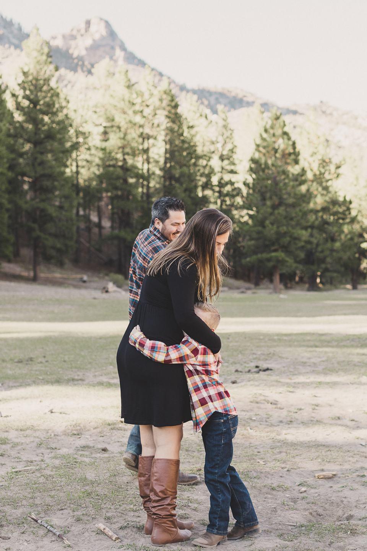 boys hug mom during Las Vegas Family Portraits