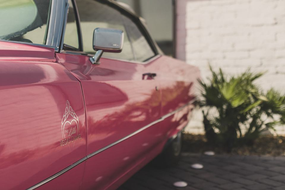 Pink Cadillac at Little Vegas Chapel Elopement