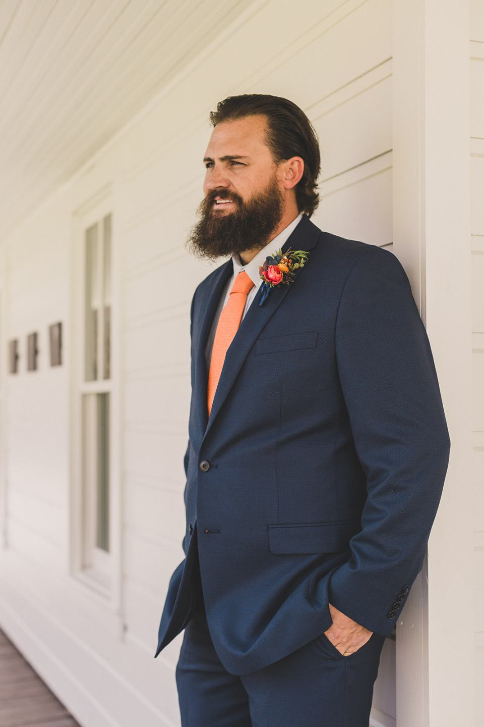 groom waits to see bride before Park City elopement