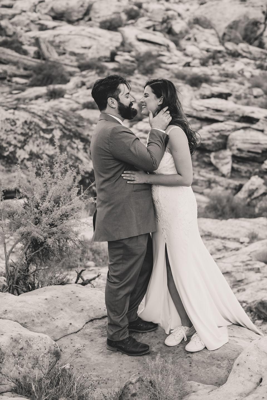 elopement portraits of bride and groom