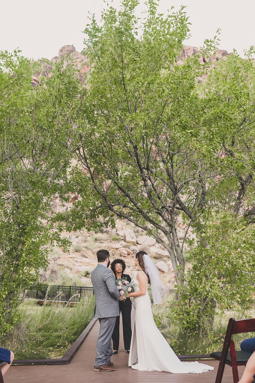 Las Vegas elopement on Red Spring Boardwalk