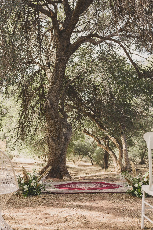 ceremony setup for Las Vegas elopement